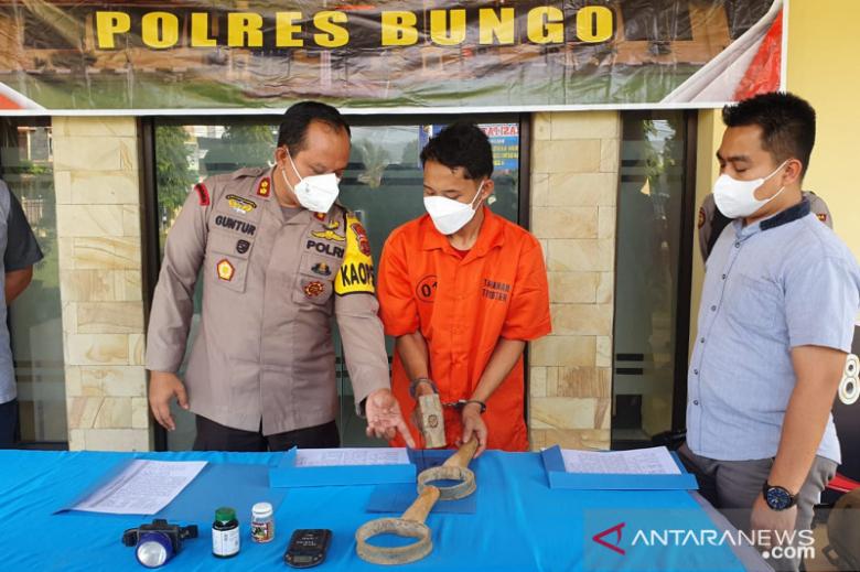 Polres Bungo tangkap pelaku penambang emas tanpa izin